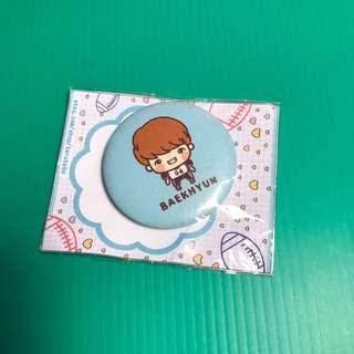EXO Baekhyun fansite badge cute