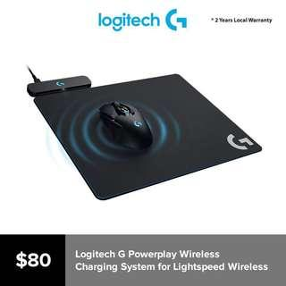 Logitech G Powerplay Wireless Charging System for G703, G903 Lightspeed Wireless Gaming Mice, Cloth or Hard Gaming Mouse Pad