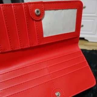 NEW Red Long Card Wallet