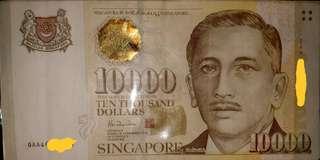 🚚 $10000 Singapore Dollars Real notes