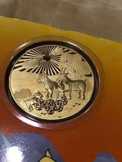 18k gold coin (sheep)/piece