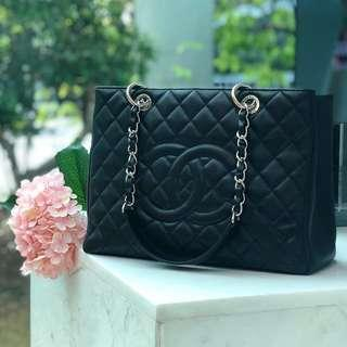 ❌SOLD!❌ Super Good Deal! Popular Chanel GST in Black Caviar SHW