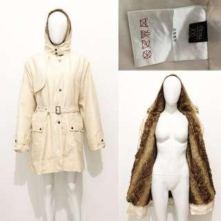 Japan cream winter coat / jacket