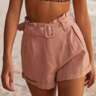 glassons linen belted shorts size 8
