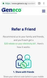 Message me for my Geneco referral code