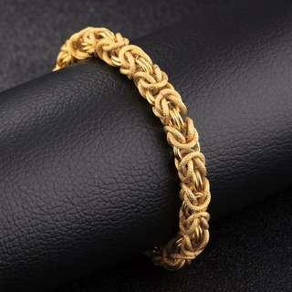 RRP: RM199.00 Oriental Dragon Byzantine bracelet 22k Gold plated