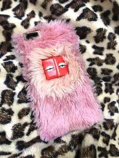 Monster fur hard case (ori) iph 6+