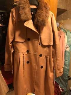 粉色 trench coat
