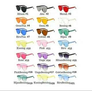 Kacamata Fashion gaul kekinian  kacamata pantai transparan
