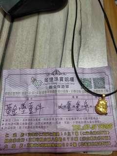 Gold衝評價👑黃金招財貓墜子蜜糖價6200元金重1.13錢