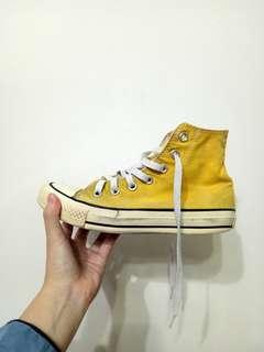 🚚 23號 converse 黃色高筒帆布鞋