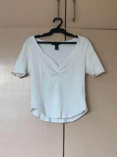 F21 V-shaped fitted top