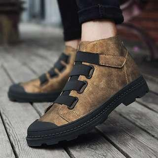 Men's Fashion Boots Ankle Suede Microfiber Leather Tooling Shoes Casual Boots