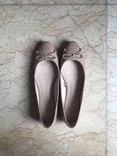Preloved flat shoes mango sepatu wanita tanpa heels croco leather