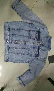 Jaket jeans denim belel