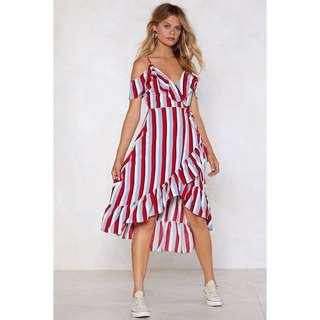 Stripe Back Round Dress