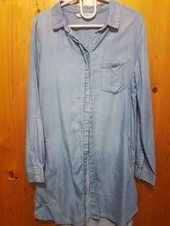 🚚 cotton on denim shirtdress