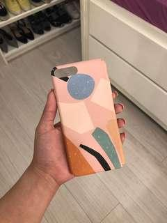 iPhone 8 Plus / 7 Plus Case (Pink with Abstract Design)
