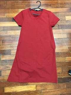 Red Brick Orange Zara Tshirt Dress #MMar18