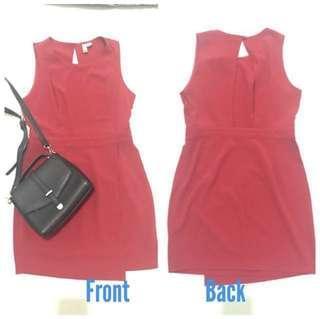 F21 Sexy Back Red Dress