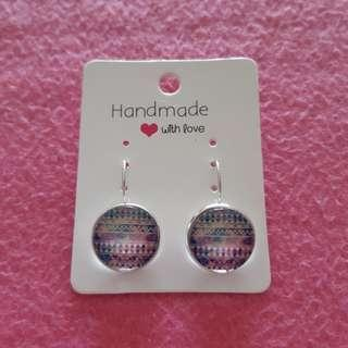 🚚 Colourful Cabochon Drop Earrings [Silver]
