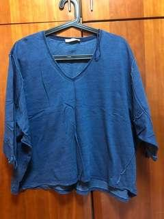 Zara t shirt. Denim's color.