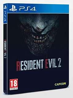 [USED] RESIDENT EVIL 2 REMAKE STEELBOOK EDITION