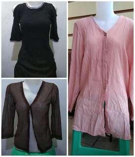 dress dan cardigan (sale 75ribu 3pcs)