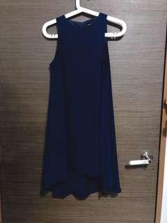 🚚 Something borrowed uneven Navy blue dress