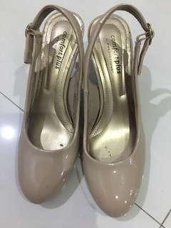 Comfort plus cream high heels