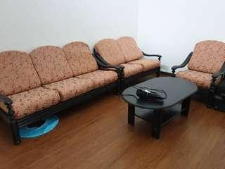 1 + 2 + 3 Sofa Set with Coffee Table
