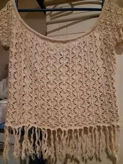 Factorie Crochet Fringe Top.