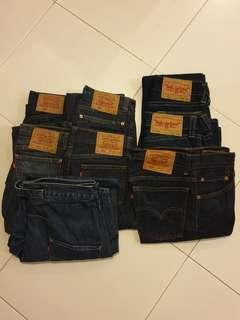 Various Levi's Jean's and Engineer Jean's skirt