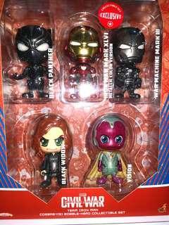 電鍍色 ironman 鐵甲奇俠 marvel hottoys cosbaby avengers infinity war 美國隊長 captain america