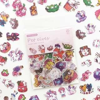 [100 stickers] Kawaii Japanese Characters Scrapbook / Planner Stickers #345