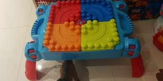 Mega blocks table building block toddler baby
