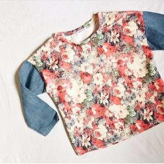 Floral / Denim Top ❤️❤️