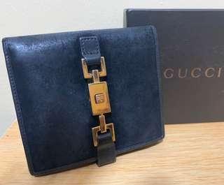 "Vintage Auth Gucci Ladies ""Jackie"" Bifold Metal Clasp Lock Wallet Purse"