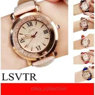 LSVTR Jam Tangan Wanita Korea Fashion Flow Diamond Quartz Women Leather Watch SW068