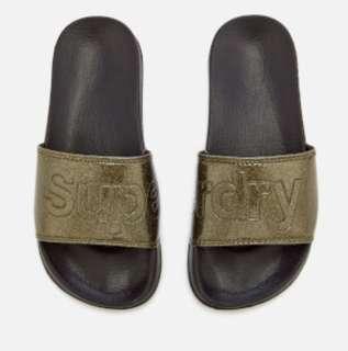 SUPERDRY 拖鞋 - 墨綠色 UK3/4 UK7/8