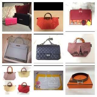 BN Hermes Chanel LV Longchamp Branded Bags