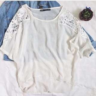 White Comfy Laced Top ❤️❤️