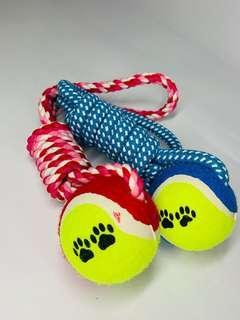 Tennis dog toy