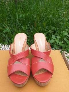 Wedges Merk Obermain - Size 36 (Red)