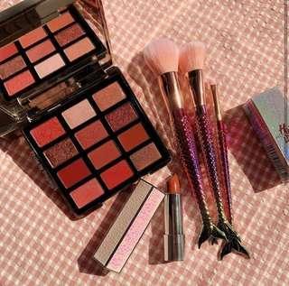 Authentic MakeUp Set (12 EyeShadows + 1 Lipstick + 3 Brush)