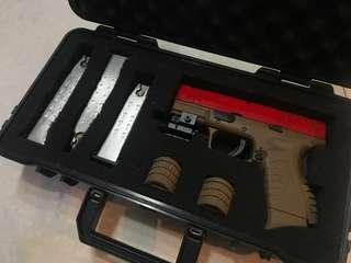 Airsoft Wargame BB 氣槍 - Taiwan WE XDM-45ACP Compact 3.8 GBB Pistol with 4 magazines, purchased for over 2k HKD