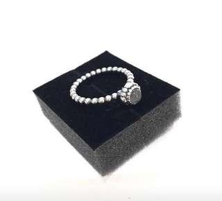 (New) Authentic Pandora Grey Moonstone and Silver Ring (Size 58)