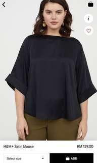 H&M Satin Plus Size Blouse
