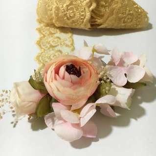 Faux Floral Headpiece