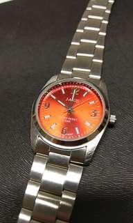 🚚 126 J-AXIS QUARTZ watch 石英 錶 漂亮紅 Japan Sun Flame